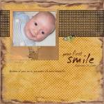 Kilian's first smile!